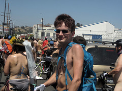 (143738) L.A. World Naked Bike Ride 2014 - Google Glass