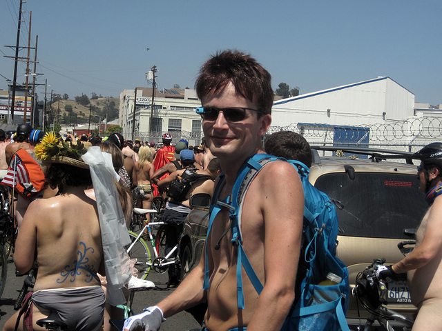 (143738) L.A. World Naked Bike Ride 2014 - Google Glass