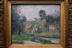 """""""Au bord du ruisseau de Saint-Antoine, l'Hermitage, Pontoise"""" (Camille Pissarro - 1876)"""