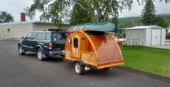 Toyoya Tundra and miniature trailer