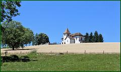Sainte-Marie-d'Alvay (73) 9 juillet 2015. Petit village de l'Avant-Pays savoyard.