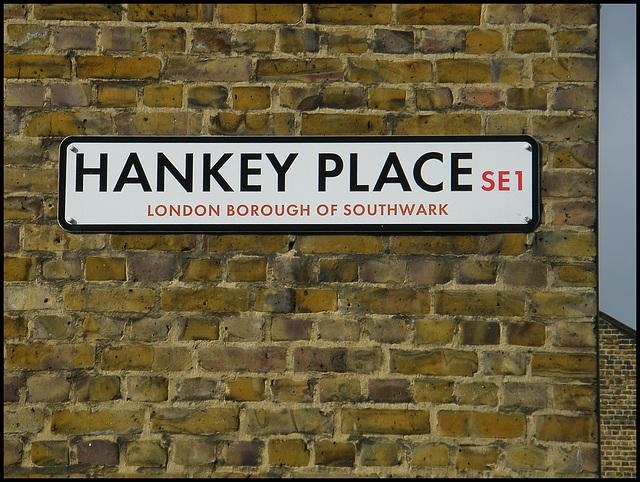 Hankey Place street sign