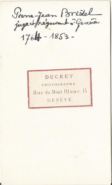 Pierre Jean Bridel (reverse)