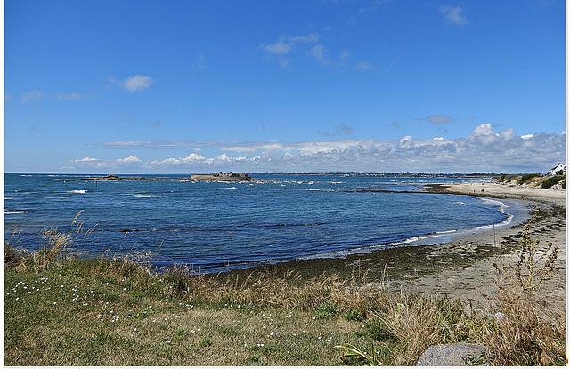 le fort bloqué marée haute