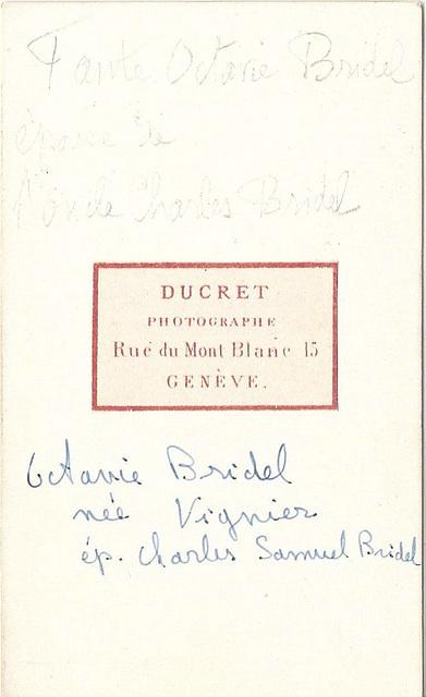 Octavie Brigel né Vignier (reverse)