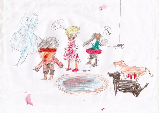 Keya's drawings and colouring #16
