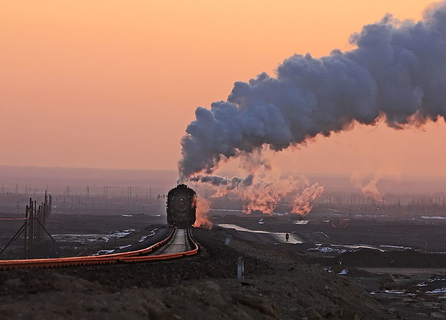 Steam at sunrise
