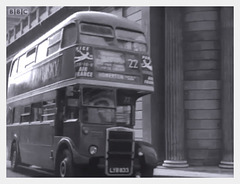 London bus in city