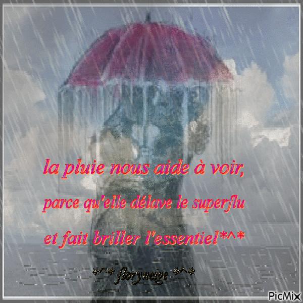 la pluie, comme les larmes...