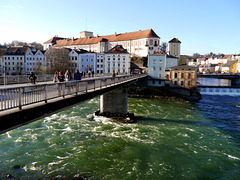 Wo die Steyr in die Enns fliesst / Where the Steyr river flows into the Enns river