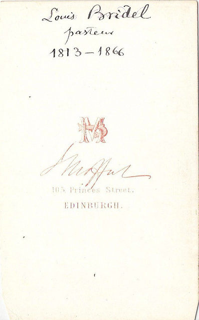 Louis Bridel (reverse)
