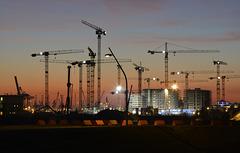 Großbaustelle in der Hafen-City Hamburg