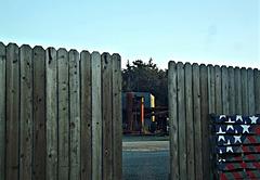 Seen through a fence