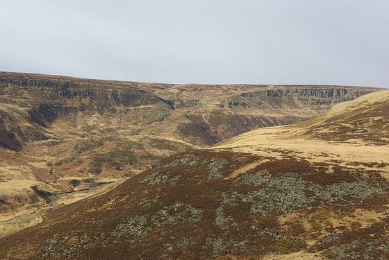 The Pennine Way goes over the top of Laddow Rocks