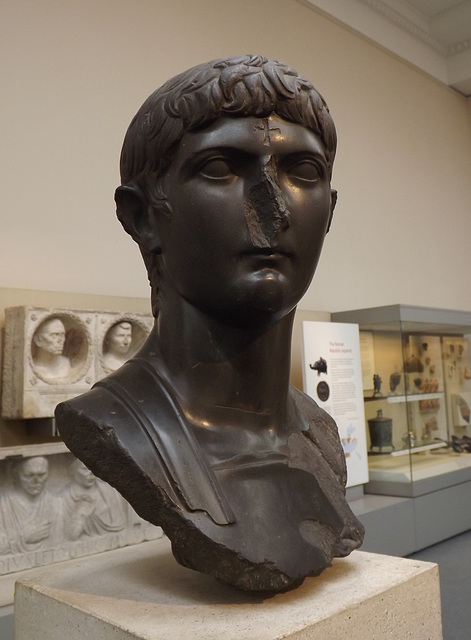 Marble Head of Germanicus in the British Museum, April 2013
