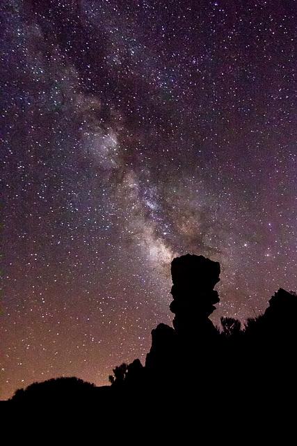 Canary Islands - Tenerife - Milky way over Los Roques de García