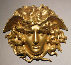 Gilt Bronze Medusa Mask in the Metropolitan Museum of Art, March 2018