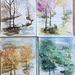 Aquarelle : Les 4 saisons
