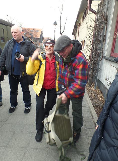 Gute Laune: Bei der Ankunft in Wernigerode