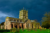 Rain clouds over St Lawrence's, Gnosall