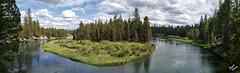 Magnificent Deschutes River at LaPine State Park (+3 insets)