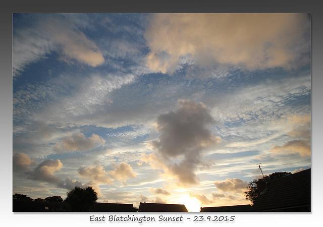 Sunset over East Blatchington - 23.9.2015