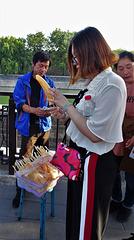 Street vendor outside Forbidden City
