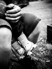 Frog Socks / Calcetines de rana / Chaussettes grenouille