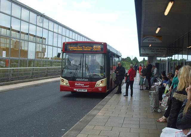 DSCF7738 Halton Borough Transport 12 (AE59 AWG) on the Runcorn Busway - 15 Jun 2017