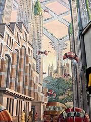 Lyon (69) 15 août 2006. Lyon en 2046..........