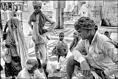 Scène de la vie quotidienne à Pushkar