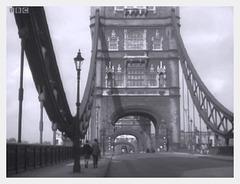 on Tower Bridge 1955