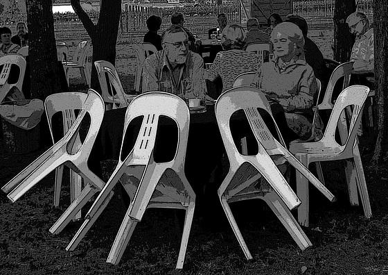 #18 white chairs