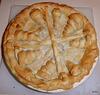Howgate Wonder apple and blackberry pie