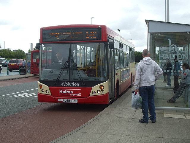 DSCF7800 Halton Borough Transport 7 (AJ58 PZL) in Widnes - 16 Jun 2017