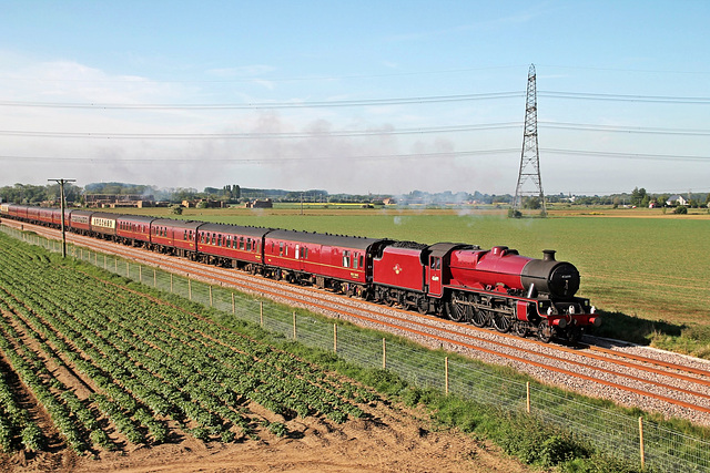 """LMS Jubilee Class 6P 4-6-0 no 45699 """"Galatea"""" on   """"THE SCARBOROUGH STEAM SPECIAL"""" May 17th 2014"""