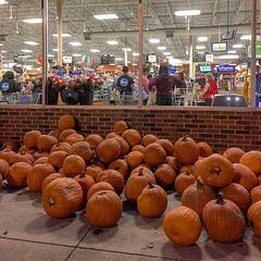 Supermarket pumpkins.