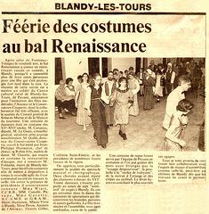 Bal Renaissance à Blandy-les-Tours 25 mai 1996