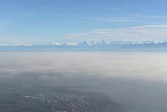 Les Alpes au-dessus de la mer de brouillard (voir la note)