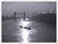 Tower Bridge sunrise 1955