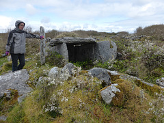 Irish Wedge tomb, with a local archaeologist.