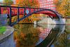 Berlin. Landwehrkanal mit Hiroshimasteg. 201510