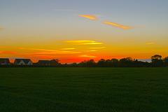 Early autumn sunset