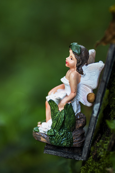 Wee Fairy Having a Seat