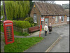 English village bus stop