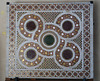 Piece of mosaic floor mounted on the wall