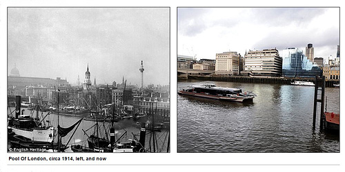 Pool of London then and now