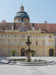 Melk Abbey- Coloman Courtyard and Fountain