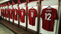 Liverpool team dressing room ( Visit to Anfield )