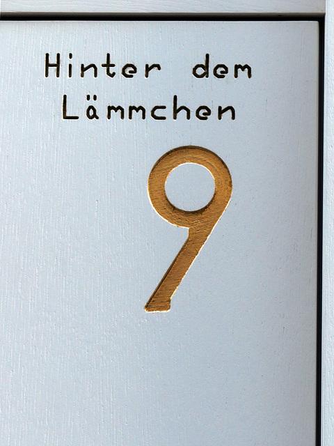 Haus-Nummer